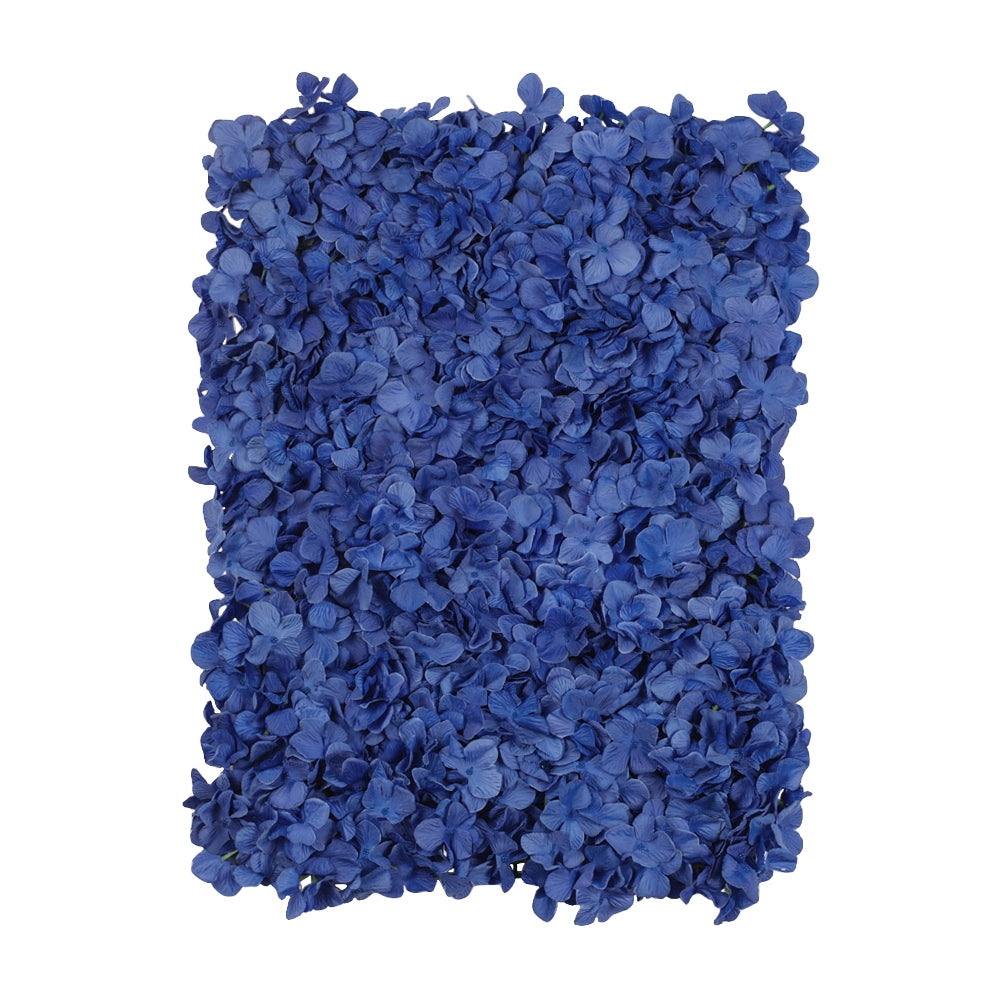 Silk Hydrangeas Flower Wall Backdrop Panel - Blue