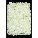 Silk Hydrangeas Flower Wall Backdrop Panel - Cream