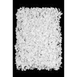 Silk Hydrangeas Flower Wall Backdrop Panel - White