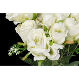 Silk Rose Bush 12 heads - Ivory