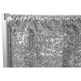"Glitz Sequin 10ft H x 112"" W Drape/Backdrop panel - Silver"