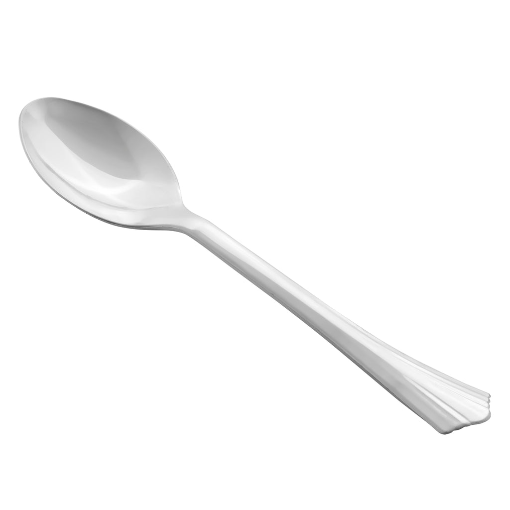 Silver Plastic Spoons 10/Pack - Classic Collection