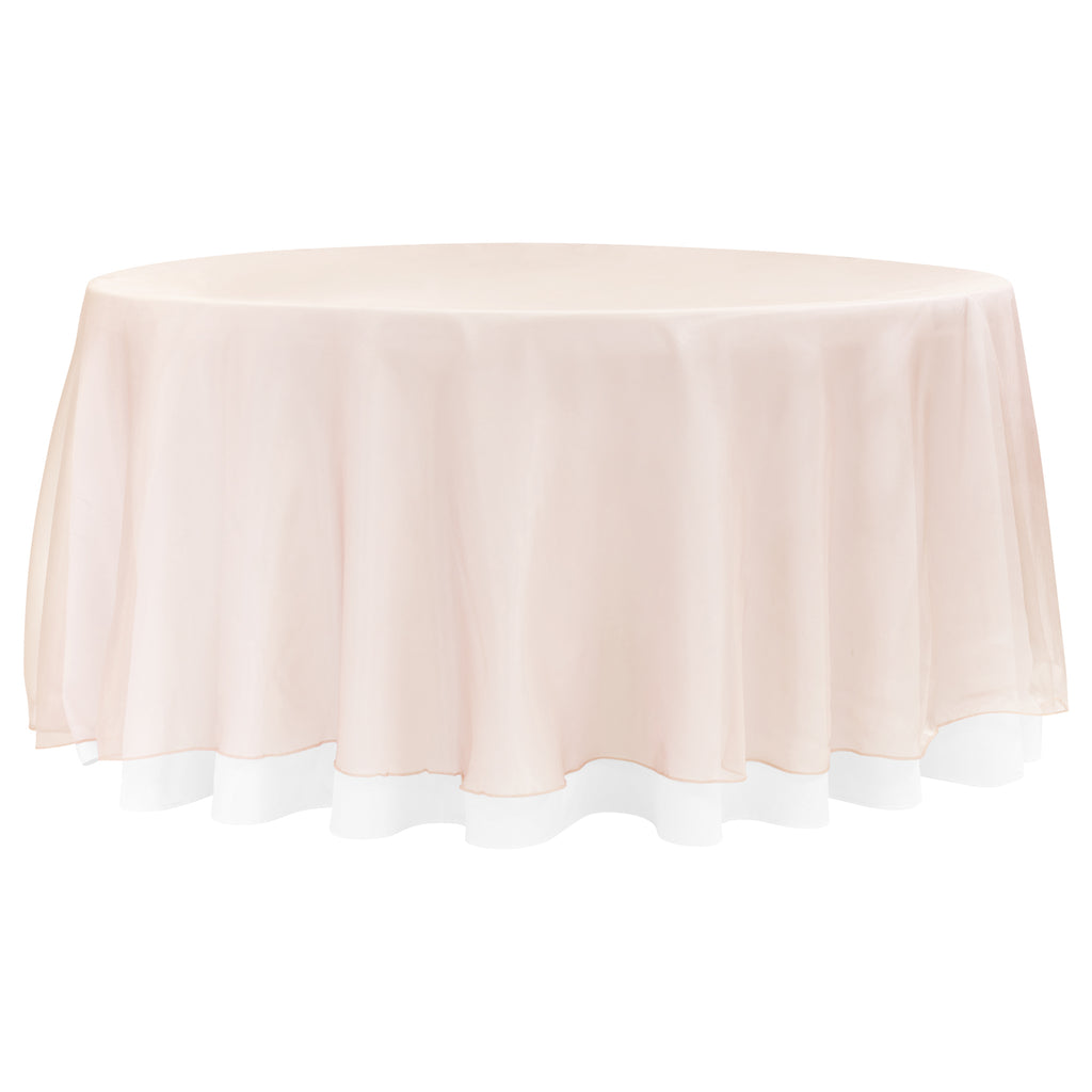 "Organdy Table Sheer Tablecloth 36/"" Square New Cream Ivory Off White Centerpiece"