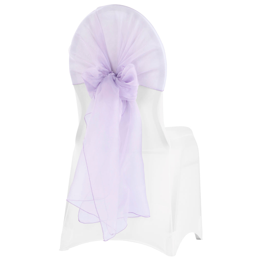 Snow Organza Chair Caps/Hoods - Lavender