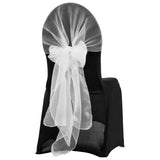 Snow Organza Chair Caps/Hoods - White