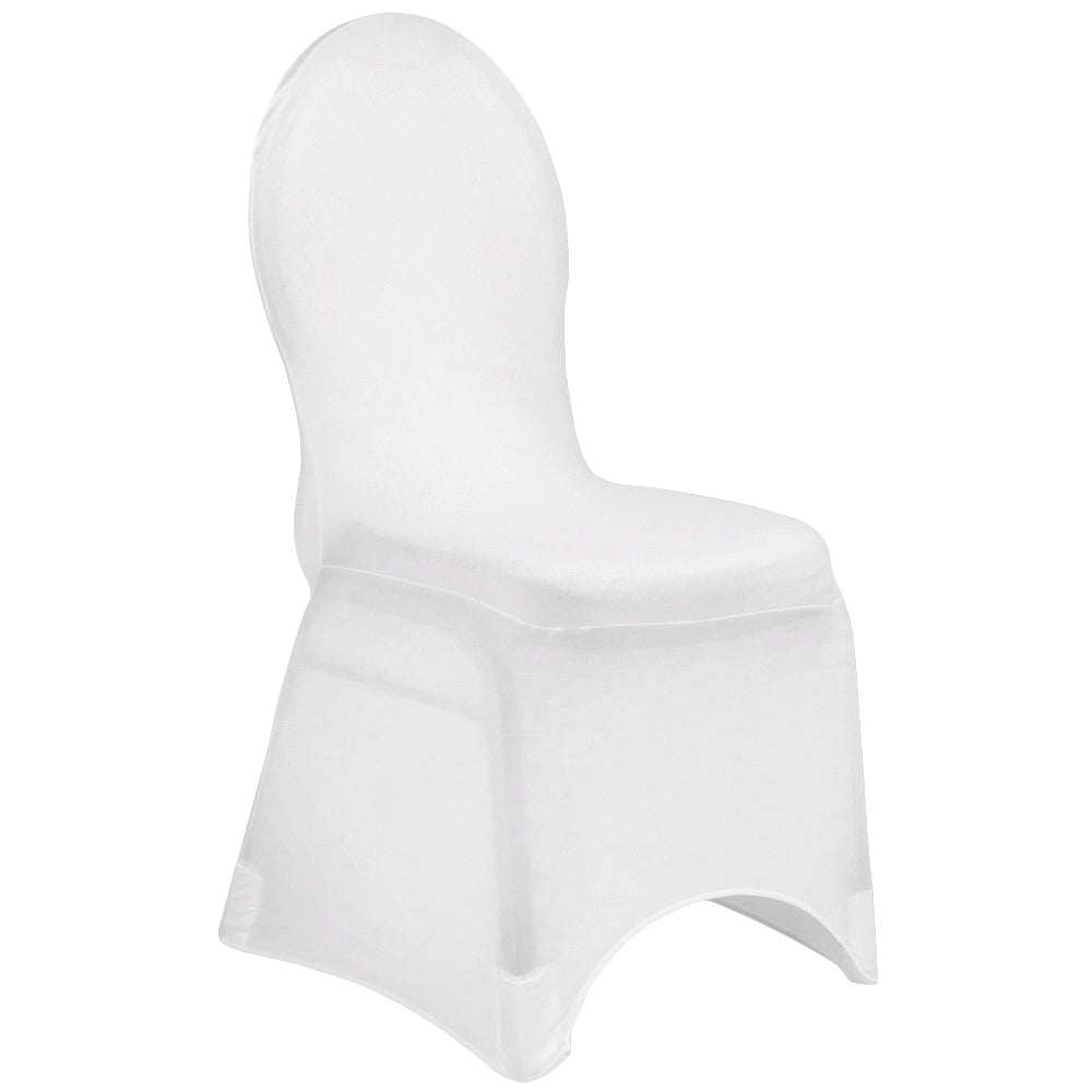 Enjoyable Spandex Banquet Chair Cover White Inzonedesignstudio Interior Chair Design Inzonedesignstudiocom
