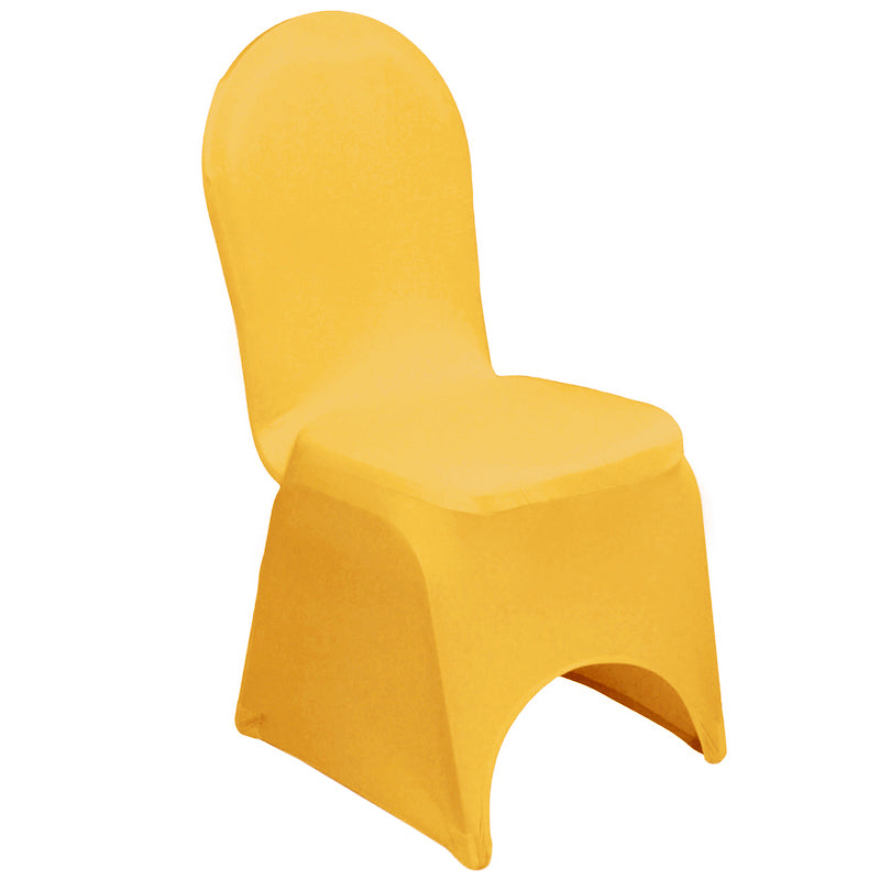 Spandex Banquet Chair Cover - Canary Yellow