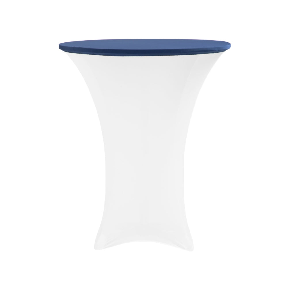"Spandex Table Topper/Cap 30""-36"" Round - Navy Blue"