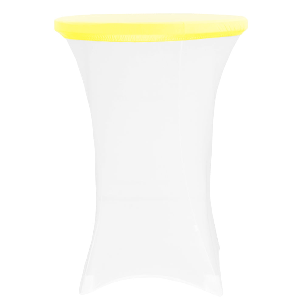 "Spandex Table Topper/Cap 30""-36"" Round - Bright Yellow"