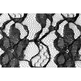 "72"" Square Lace Table Overlay Topper - Black"
