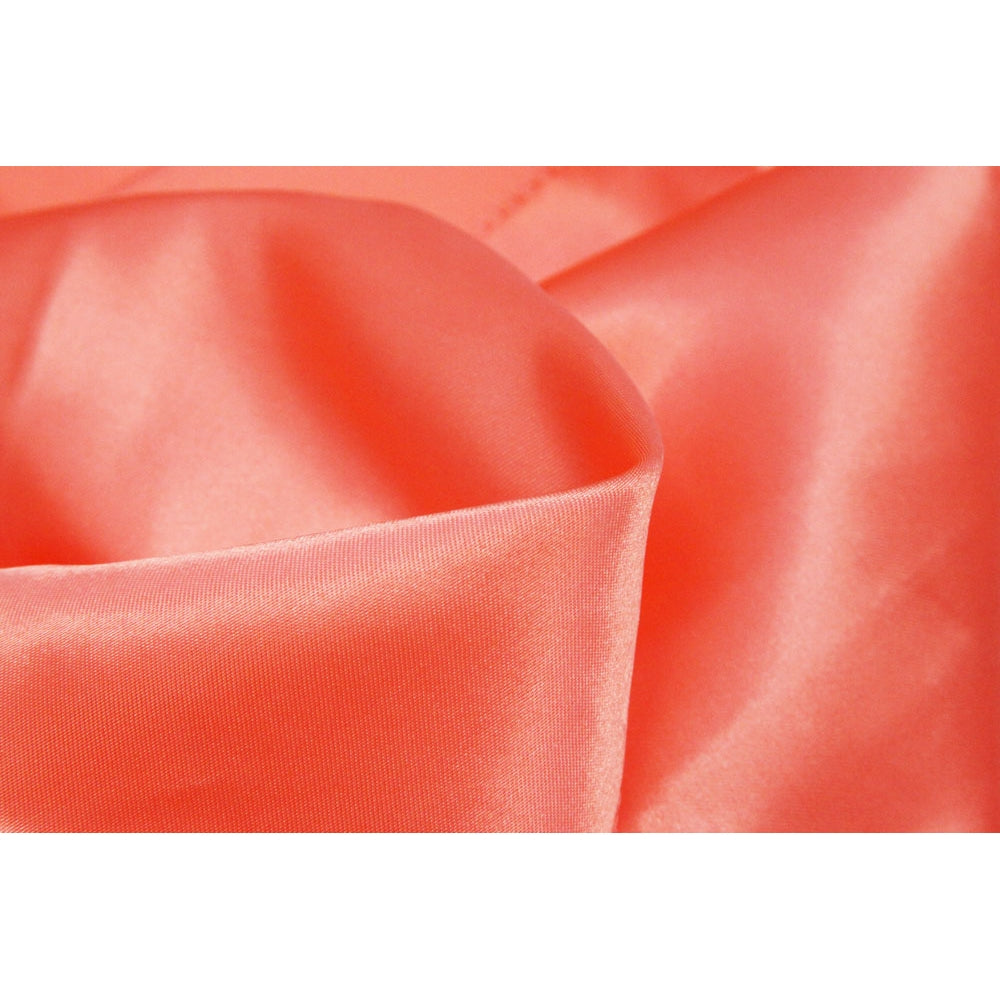 "Square 54"" SATIN Table Overlay - Coral"