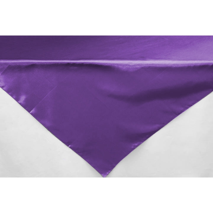 "Square 54"" Satin Table Overlay - Purple"