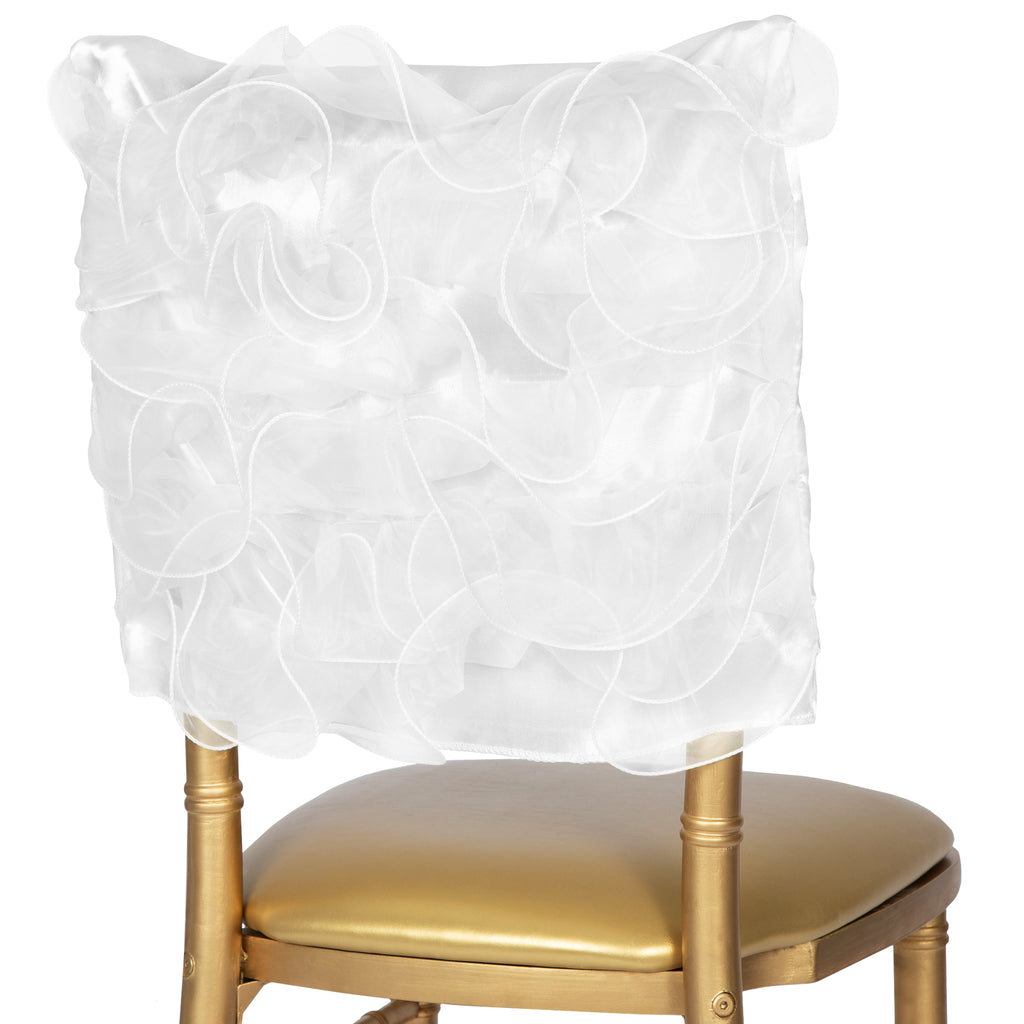 Swirl Chiavari Chair Cap - White