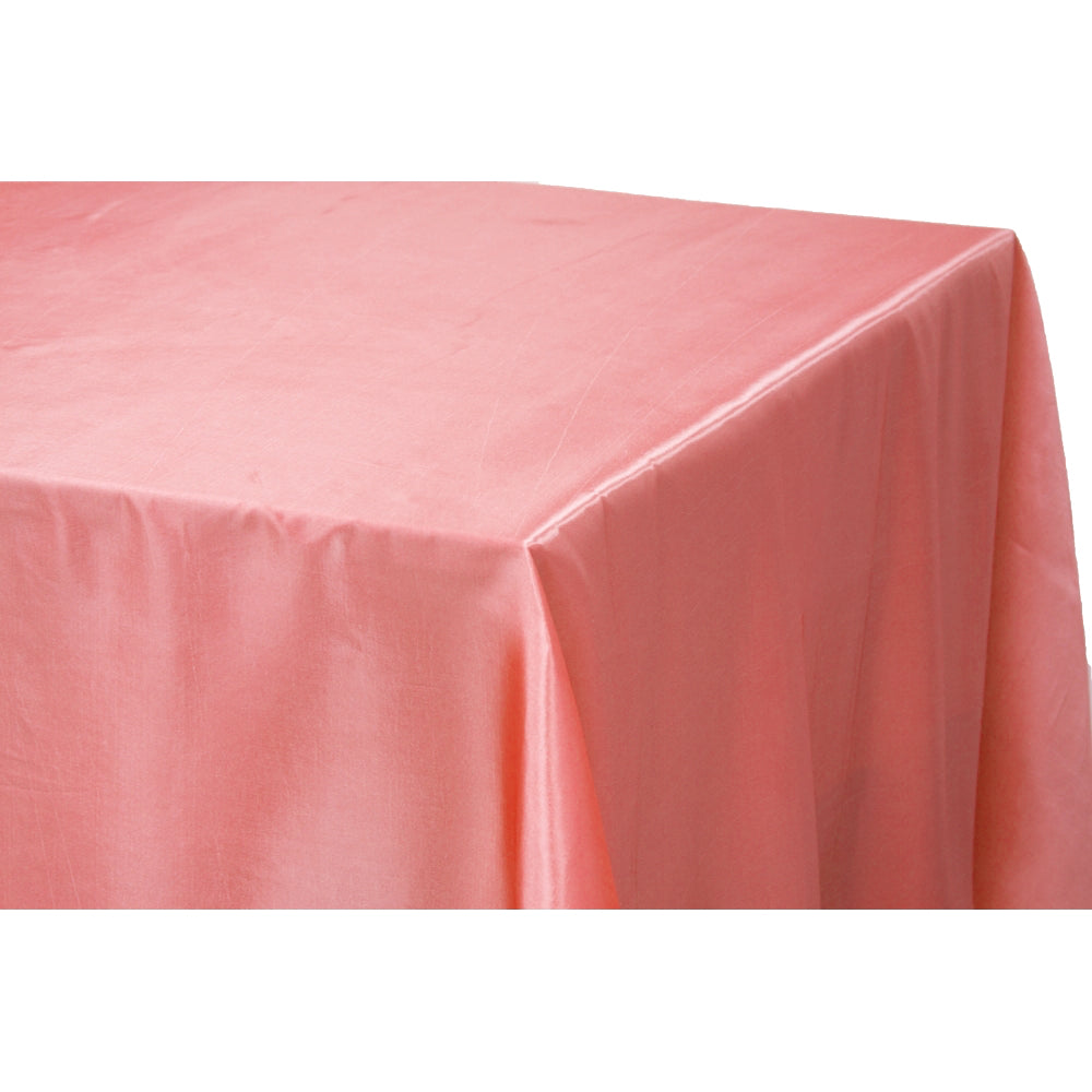 "Taffeta Tablecloth 90""x156"" Rectangular - Coral"