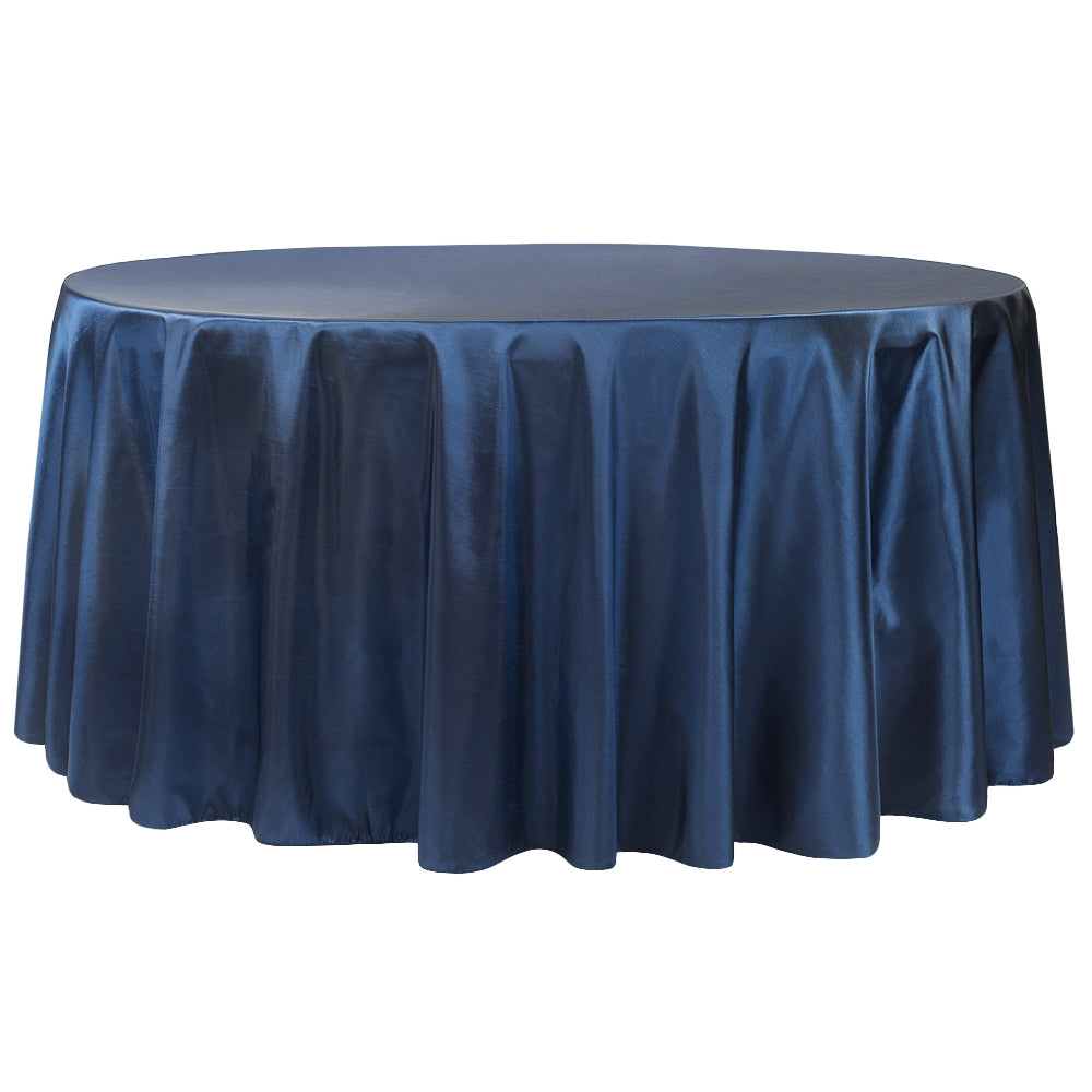 "Taffeta Tablecloth 120"" Round - Navy Blue"