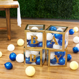 BABY Transparent Balloon Boxes (4 pcs) - Gold