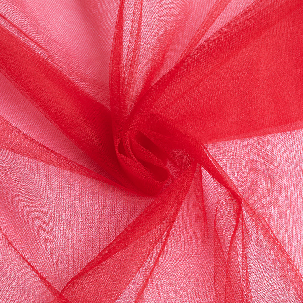 "Tulle Fabric Bolt Roll 54"" x 40 yards - Red"