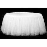 Tulle Tutu 17ft Table Skirt - White