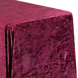 "Velvet 90""x156"" Rectangular Tablecloth - Burgundy"