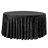 "Velvet 120"" Round Tablecloth - Black"