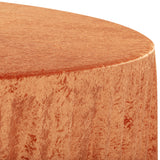 "Velvet 120"" Round Tablecloth - Rust"