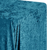 "Velvet 90""x132"" Rectangular Tablecloth - Peacock Teal"