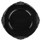Vintage Round Charger Plate - Black