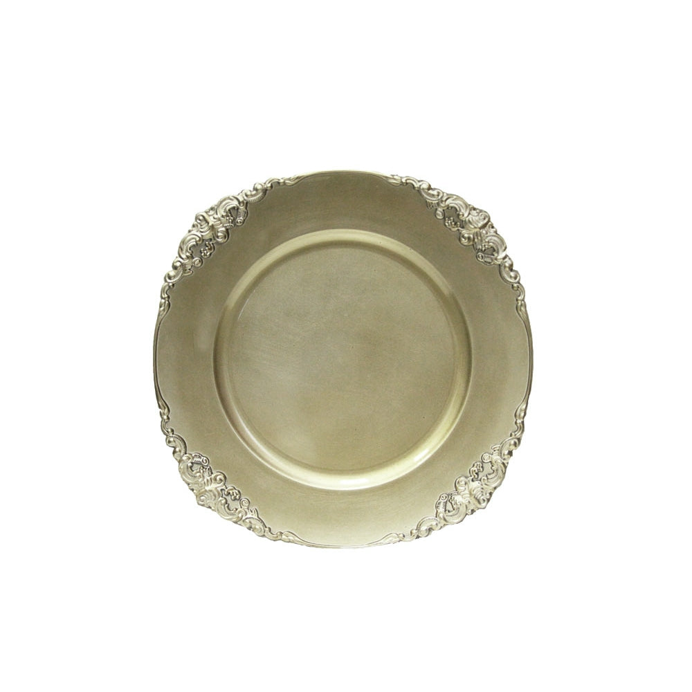 Vintage Round Charger Plate - Champagne