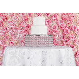 Silk Roses/Hydrangeas Flower Wall Backdrop Panel - Fuchsia & Light Pink