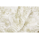 "Wedding Rosette Satin 90""x156"" rectangular Tablecloth - Ivory"