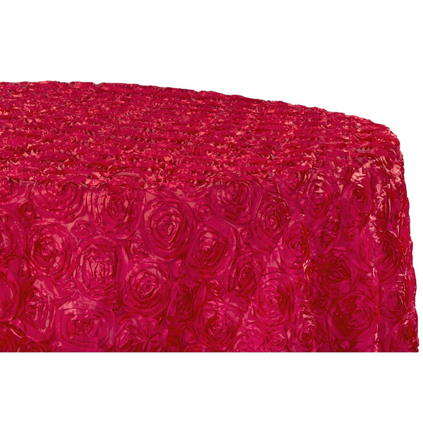 Wedding Rosette Satin 120 Quot Round Tablecloth Apple Red