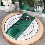 "Satin Napkin 20""x20"" - Emerald Green"
