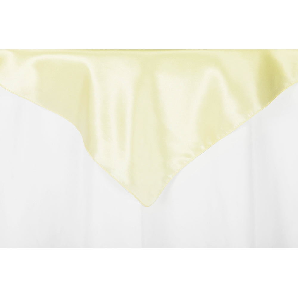 "Square 54"" Satin Table Overlay - Yellow"