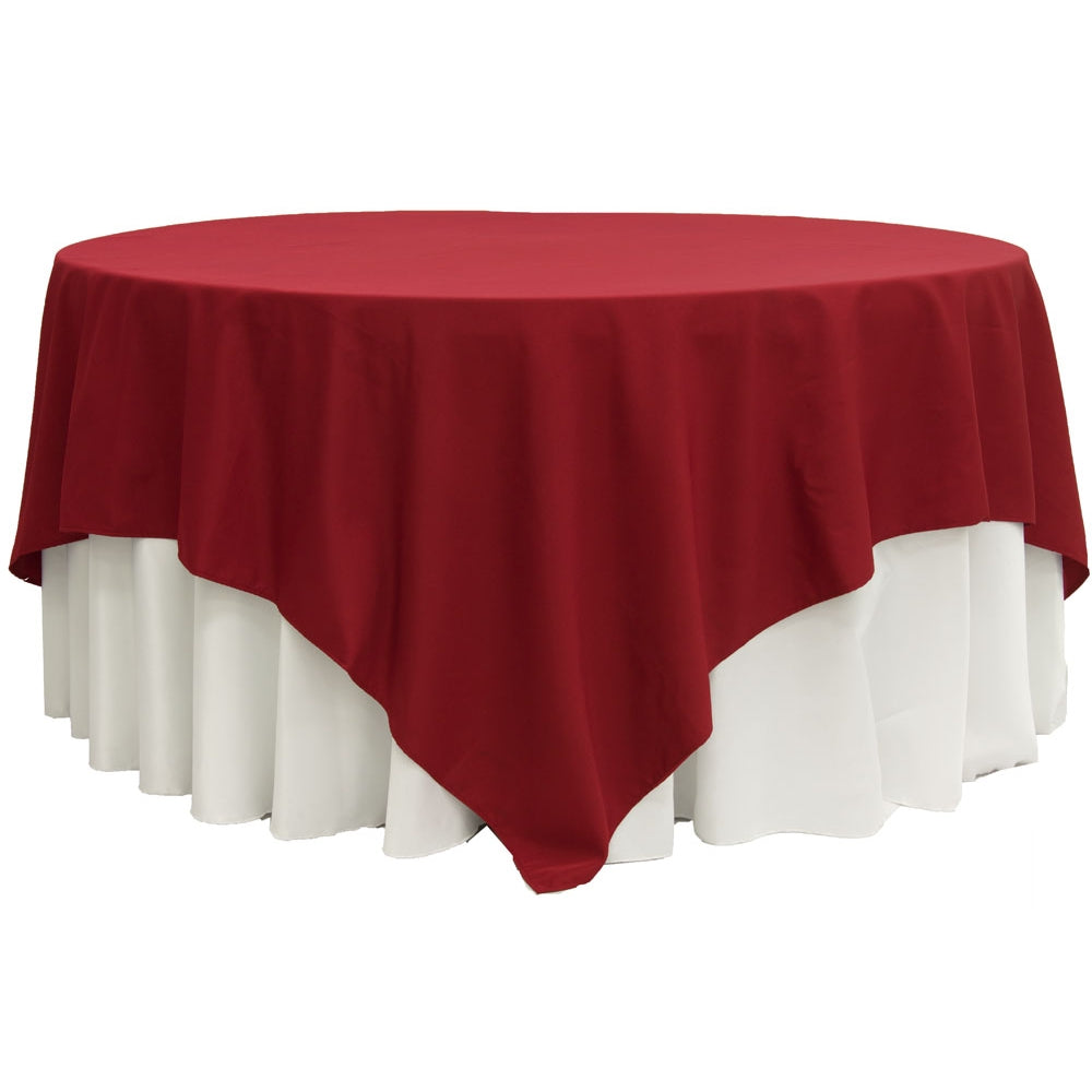 "Polyester Square 90""x90"" Overlay/Tablecloth - Apple Red"