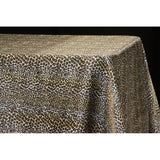 "Satin Rectangular 90""x132"" Tablecloth - Leopard Design"