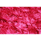 "Wedding Rosette Satin 90""x132"" rectangular Tablecloth - Fuchsia"