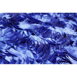 "Wedding Rosette Satin 90""x156"" rectangular Tablecloth - Royal Blue"