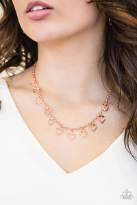 Im Yours - Copper Paparazzi Necklace - Carolina Bling Boss