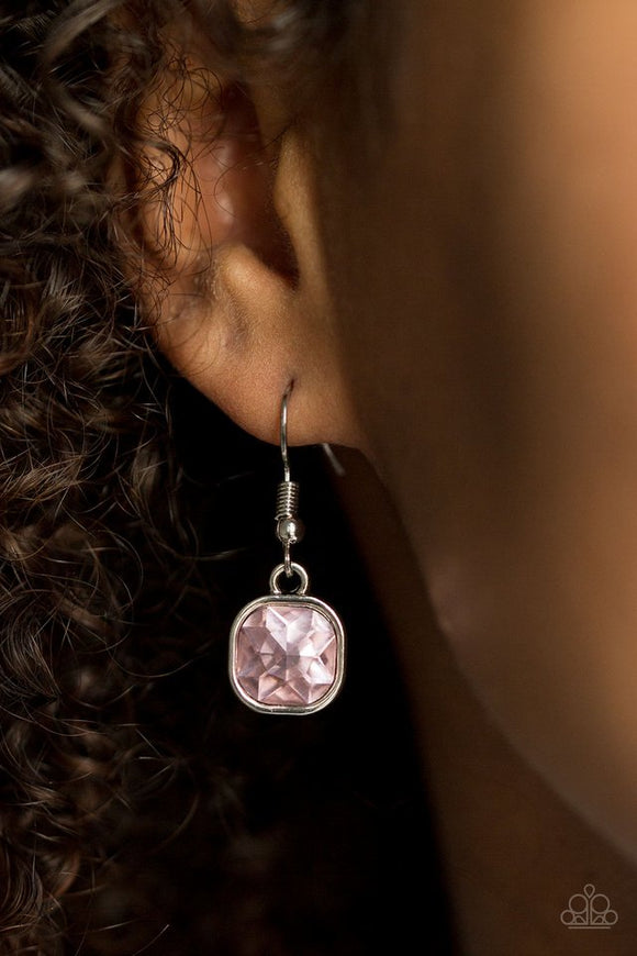 Everlasting Shine - Pink Paparazzi Earrings - Carolina Bling Boss