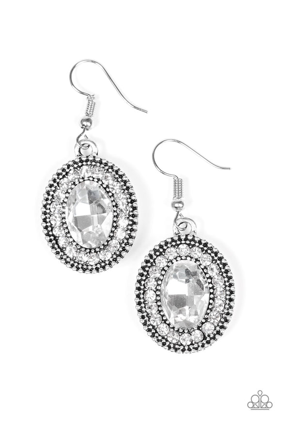 Wonderfully West Side Story - White Paparazzi Earrings - Carolina Bling Boss