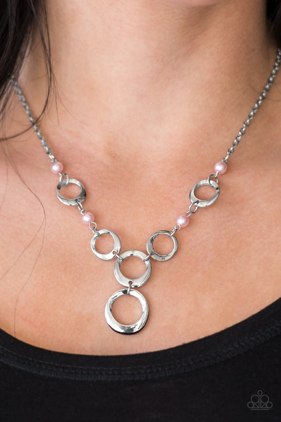 Perfectly Poised - Pink Paparazzi Necklace - Carolina Bling Boss