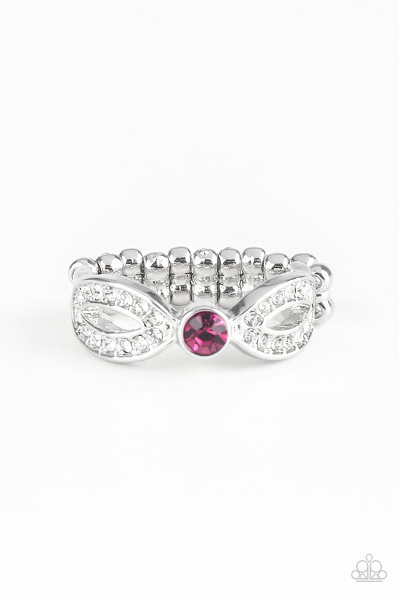 Extra Side Of Elegance - Pink Paparazzi Ring