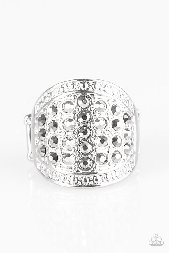 Born To RUNWAY - Silver Paparazzi Ring - Carolina Bling Boss