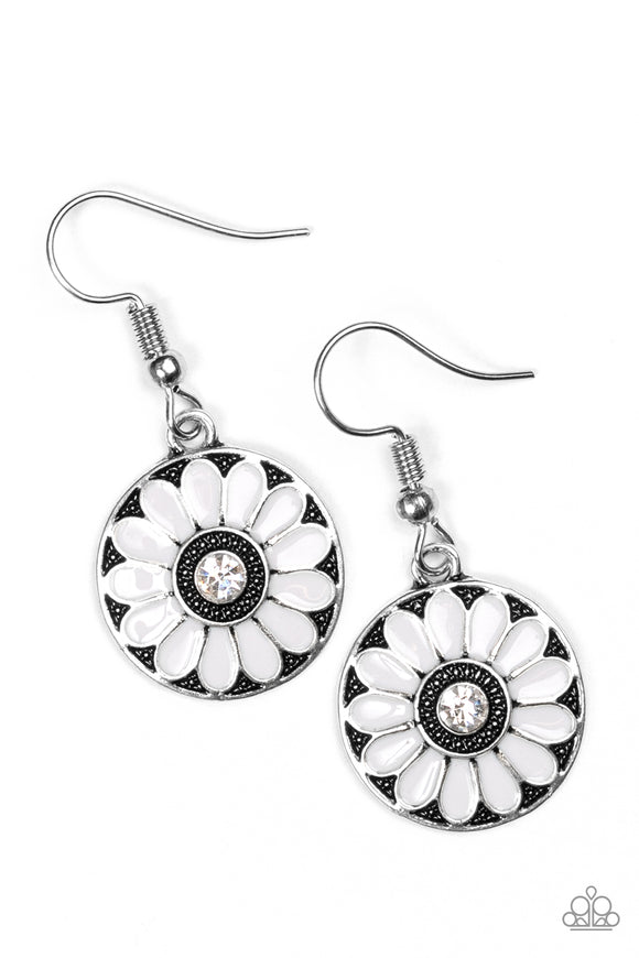 Lily Luau - Silver Paparazzi Earrings - Carolina Bling Boss