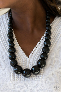 Effortlessly Everglades - Black Paparazzi Necklace - Carolina Bling Boss