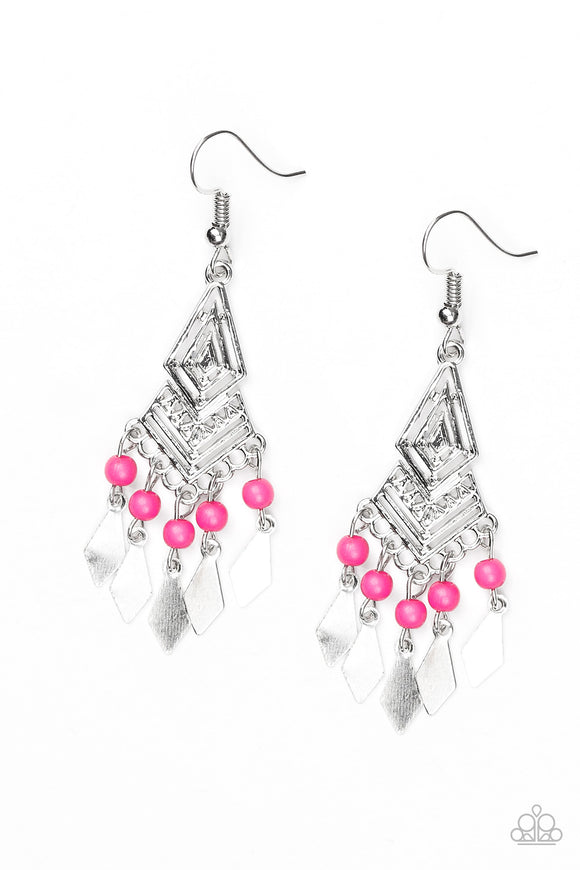 Island Import - Pink Paparazzi Earrings - Carolina Bling Boss