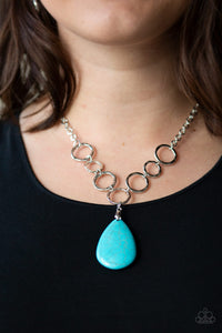 Livin On A PRAIRIE - Blue Paparazzi Necklace - Carolina Bling Boss