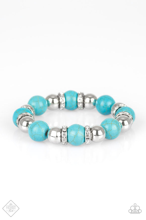 Ruling Class Radiance - Blue Paparazzi Bracelet - Carolina Bling Boss