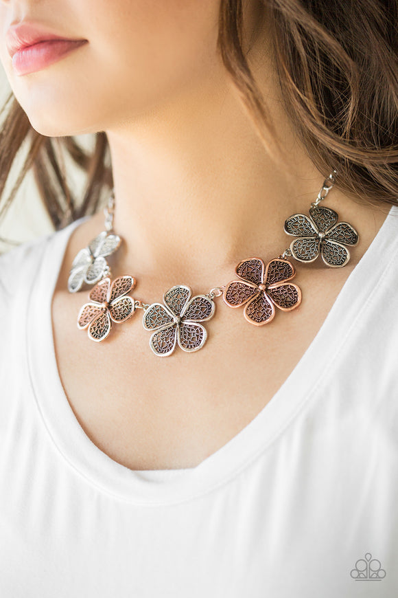 No Common Daisy - Multi Paparazzi Necklace - Carolina Bling Boss