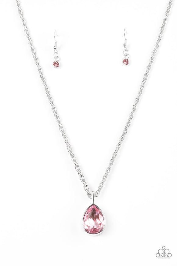 Million Dollar Drop - Pink Paparazzi Necklace - Carolina Bling Boss